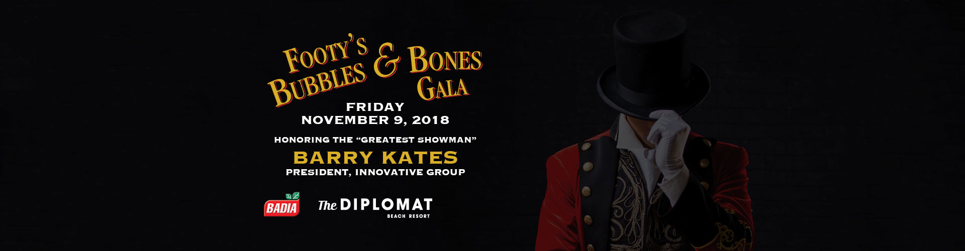 Footy's Bubbles & Bones Gala Friday November 9, 2018